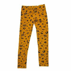 Mustard Yellow Rainbow Cheetah Print Leggings